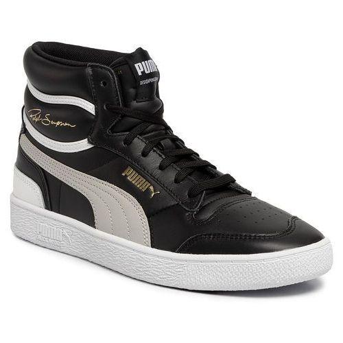 Sneakersy PUMA - Ralph Sampson Mid 370847 01 Puma Black/Gray Violet/Puma White, kolor czarny