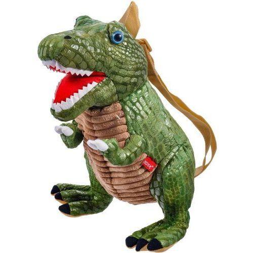 Maskotka pluszowy dinozaur tyranozaur plecak zielony. 35 cm 12966 - Beppe