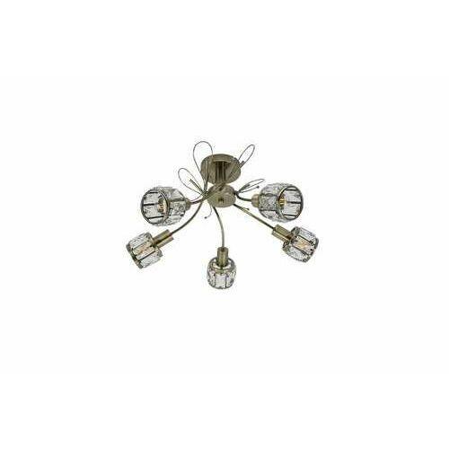 Krislamp Venus KR 374-5PL lampa wisząca zwis 5x40W E14 patyna/transparentna