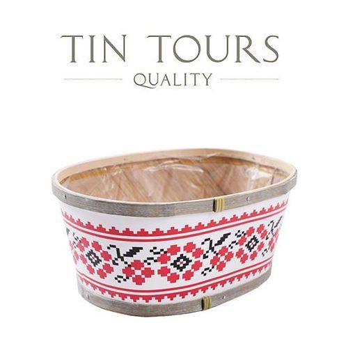 Tin tours sp.z o.o. Owalny koszyk z łuby 23x16x10h cm