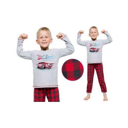 Piżama dziecięca paweł: szary/czerwony marki Taro