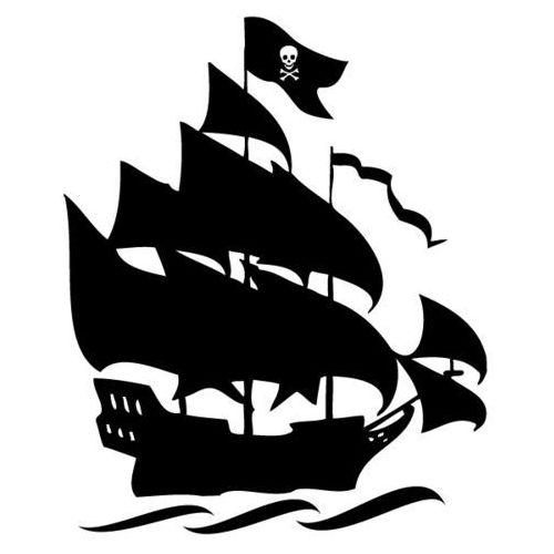 Naklejka dekoracyjna dla dzieci 72 - statek piracki marki Szabloneria