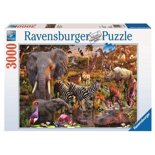 Puzzle 3000 elementów - Afrykańskie zwierzęta
