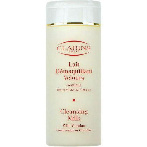 Clarins  cleansing milk with gentian 200ml w mleczko demakijaż do skóry mieszanej i tłustej, kategoria: mleczka do demakijażu