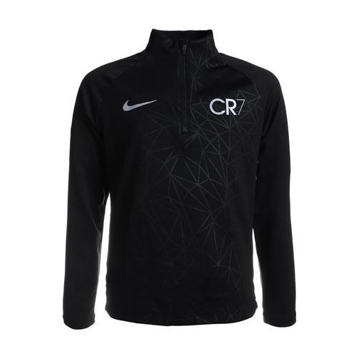 Nike Performance CR7 DRY DRIL Koszulka sportowa black/blue tint/light armory blue