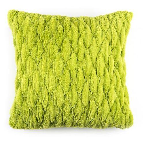 BO-MA Poszewka na poduszkę włochata pikowana zielony, 45 x 45 cm
