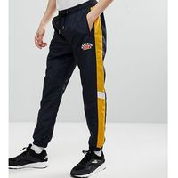 Ellesse track joggers with panels in black - black