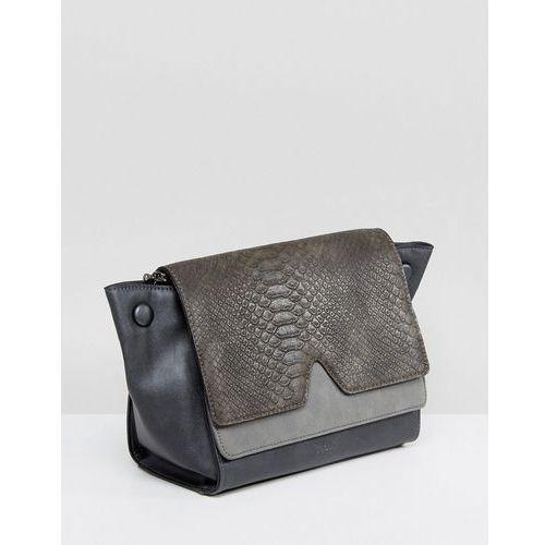 Nali Grey Snake Effect Across Body Bag - Grey