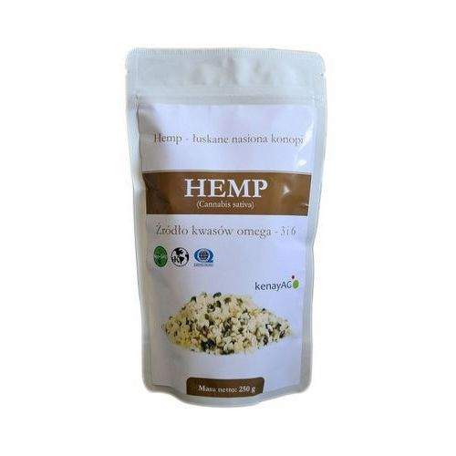 Hemp organiczne łuskane nasiona konopi 250g wyprodukowany przez Kenay ag