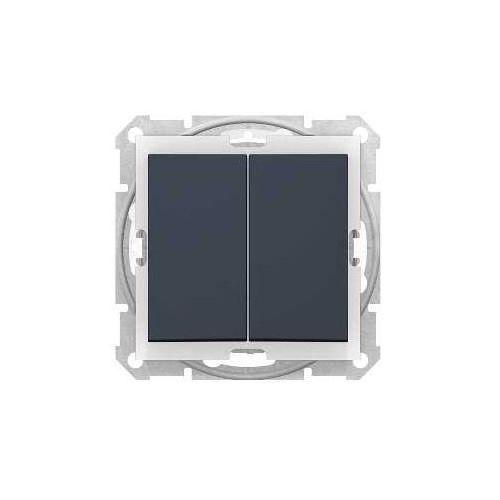 Schneider electric Łącznik świecznikowy schneider sedna sdn0300470 ip44 hermetyczny z podświetleniem grafit (3606480672484)