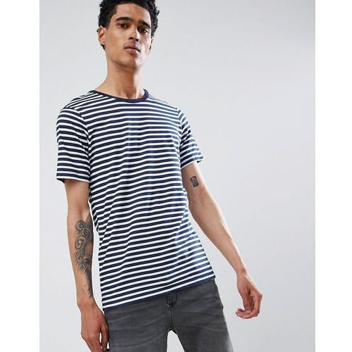 Bershka T-Shirt In Navy And White Stripe - Navy, w 2 rozmiarach