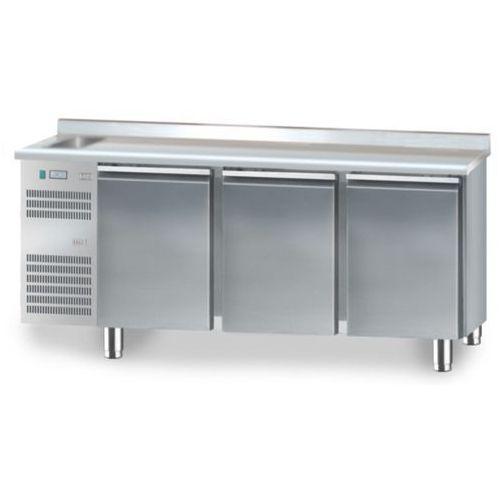 Xxlselect Stół chłodniczy ze zlewozmywakiem | 1825x700x850 | 2 do i 10 | 3 x 110l