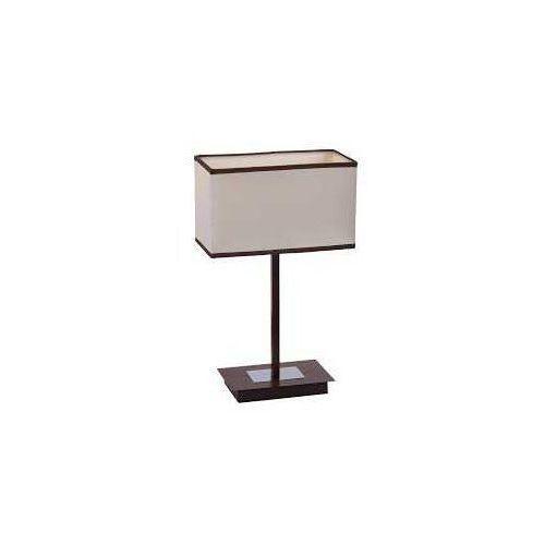Lampa lampka oprawa stołowa Rabalux Kubu 1X40W E14 brązowa 2896