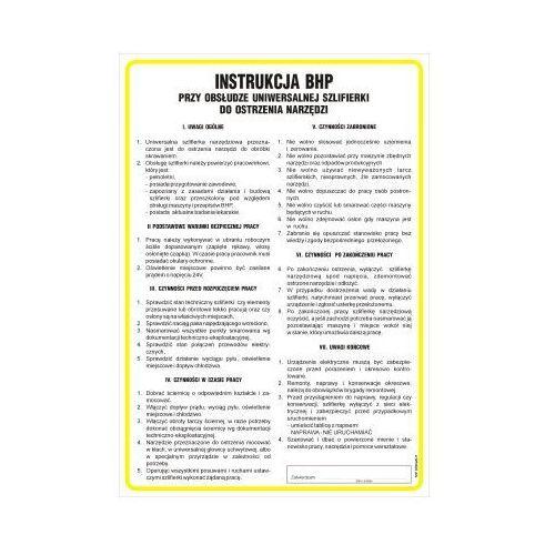 Instrukcja bhp przy obsłudze uniwersalnej szlifierki do ostrzenia narzędzi marki Top design