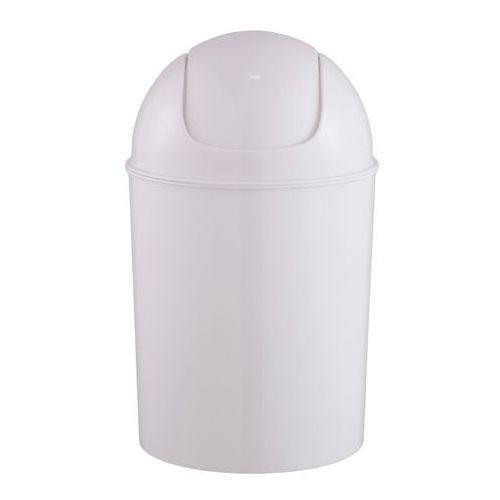 Kosz łazienkowy plastikowy Palmi 5 l biały, 710130