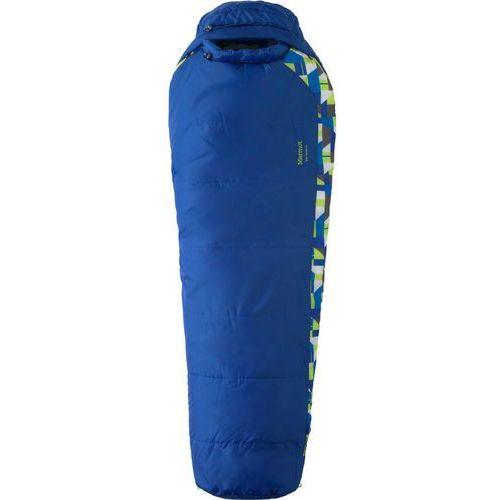 Marmot Trestles 30 Śpiwór Dzieci Kids niebieski lewe 2018 Śpiwory syntetyczne (0785562425286)