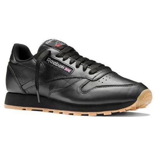 Buty classic leather - 49800 - intense black/gum marki Reebok