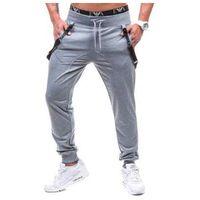 Spodnie dresowe baggy męskie szare Denley 7221, Spodnie