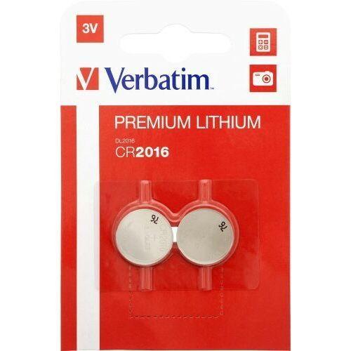 Verbatim Bateria litowa cr2016 (2 szt blister)