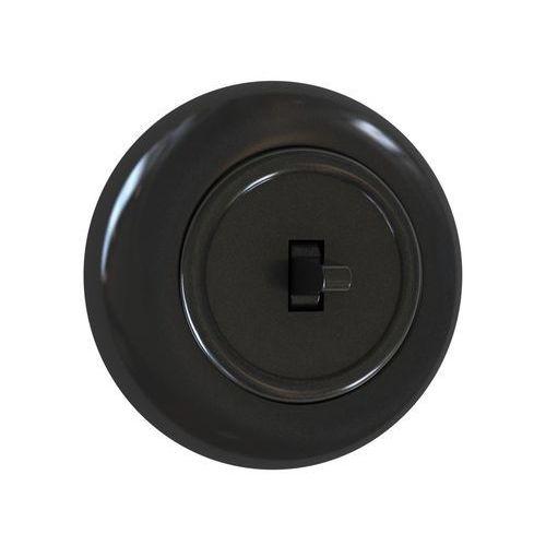 Włącznik pojedynczy SCHODOWY LF0012B LOFT czarny DPM (5903332587926)
