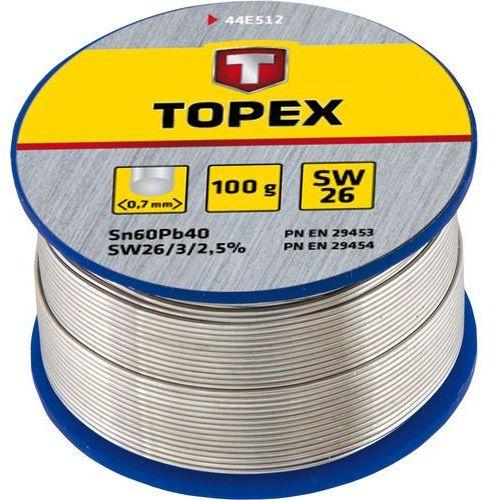 Lut cynowy 60% sn, drut 0.7 mm, 100 g marki Topex