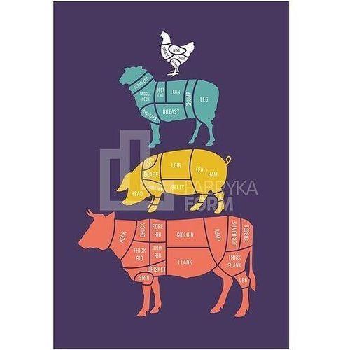 Follygraph Plakat meat cuts kolorowy 21 x 30 cm