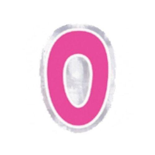 """Naklejka na balon, cyfra """"0"""" - 1 szt marki Amscan"""