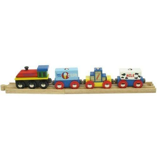 Pociąg z mlekiem i lodami do zabawy dla dzieci, wyposażenie kolejek bigjigs marki Bigjigs toys