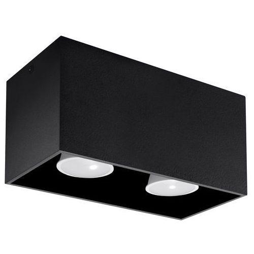 Sollux Spot plafon quad maxi sl.0381 oprawa sufitowa 2x40w gu10 czarny