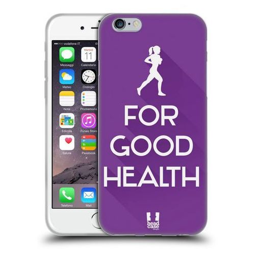 Head case Etui silikonowe na telefon - workout inspirations violet run