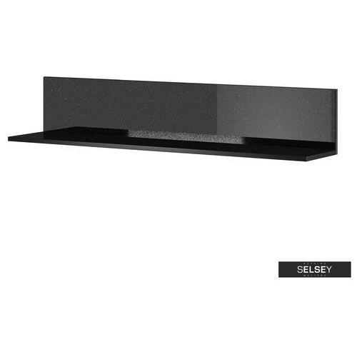 Selsey półka wisząca monterry 120 cm czarna