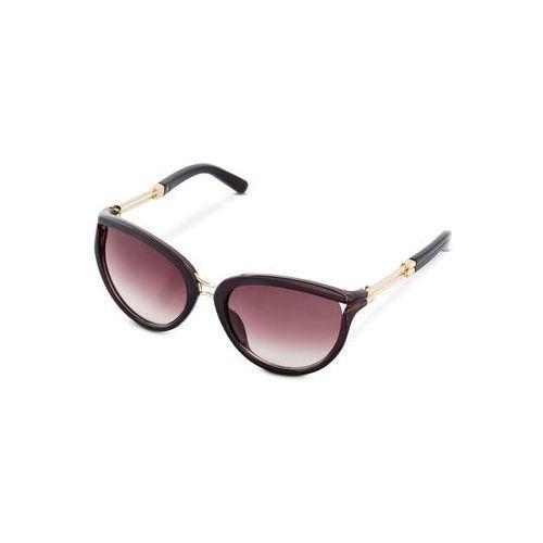 Okulary przeciwsłoneczne bonprix brązowy, kolor brązowy