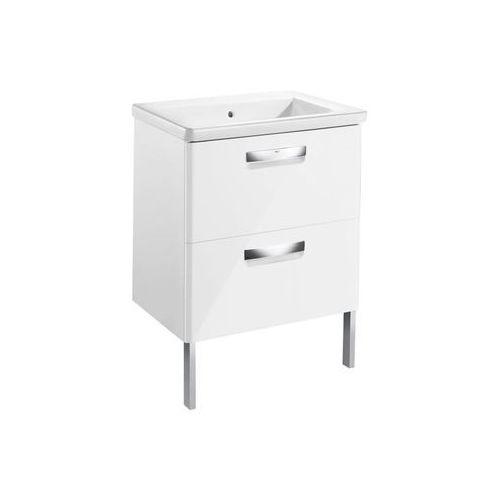 gap-n zestaw unik 60: umywalka + szafka, kolor biały połysk a855997806 marki Roca