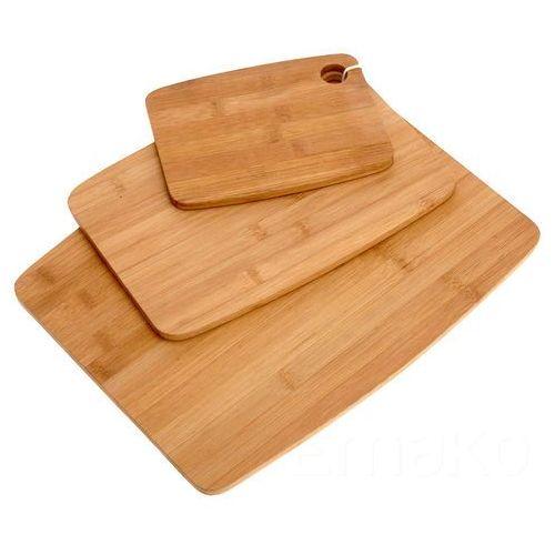 3 bambusowe deski do krojenia – komplet kuchenny marki Eh excellent houseware