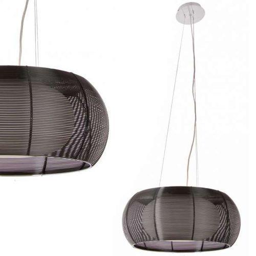 LAMPA wisząca TANGO MD1104-2L BL Zumaline metalowa OPRAWA nowoczesna szklany ZWIS okrągły czarny (1000000128802)
