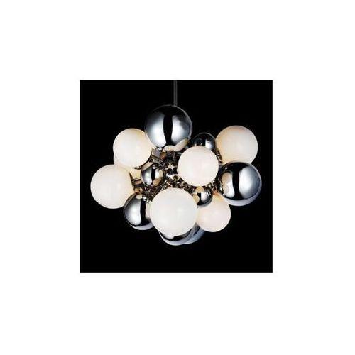 Azzardo Lampa wisząca noble ad 8052-17  halogenowy żyrandol bańki kule chrom biały