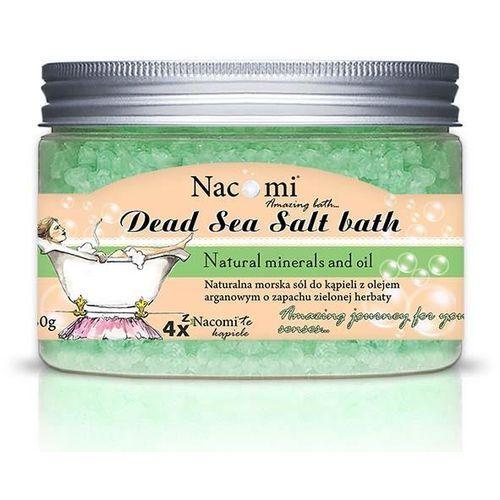 Nacomi sól do kąpieli z morza martwego o zapachu zielonej herbaty 450g