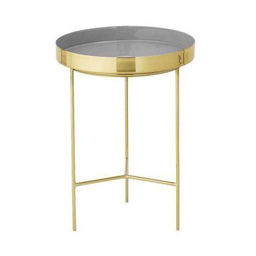 Stolik kawowy z tacą, złoto / szary, 30 cm - Bloomingville