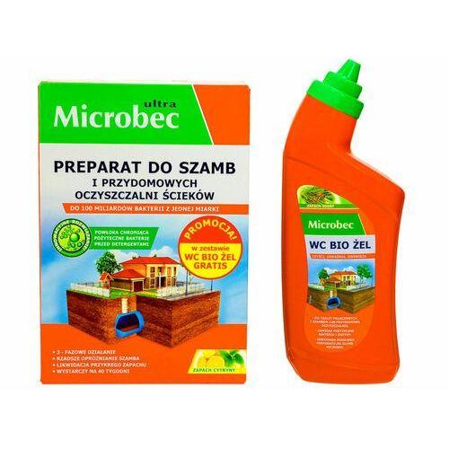 Bakterie do szamba Microbec Ultra + żel do WC z aplikatorem Microbec gratis.