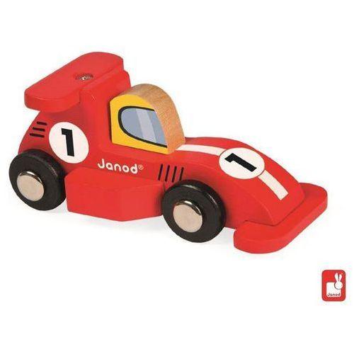 JANOD Wyścigówka drewniana Formuła 1,czerwona - Wyścigówka drewniana Formuła 1,czerwona - produkt z kategorii- Zabawki drewniane