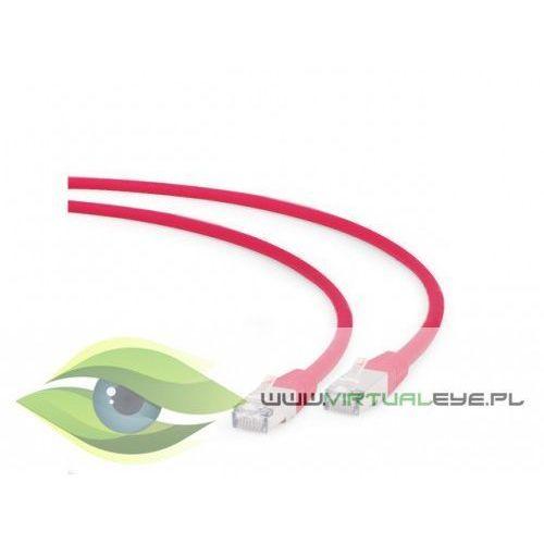 Gembird Patch cord kat.6a s/ftp lszh 0.5m czerwony (8716309091343)