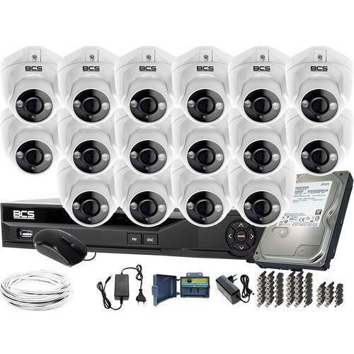 Zm11981 monitoring na duże powierzchnie 16 kamer -dmqe1500ir3-b bcs-xvr16014ke-ii 1tb marki Bcs