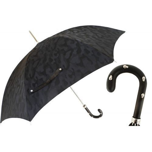 Parasol black camouflage, leather handle with skulls, 478 11780-142 h39t marki Pasotti