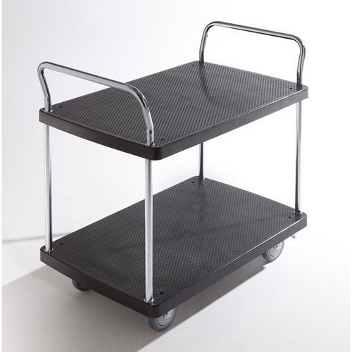 Wózek serwisowy, 2 piętra, 2 pałąk, nośność 230 kg. solidne powierzchnie ładunko marki Seco