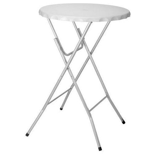 Stół koktajlowy bankietowy wysoki 80x115cm biały dobrebaseny