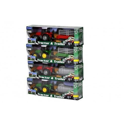 Teama traktor zielony + cysterna 1:32, 001-10762ZIELONYVER2