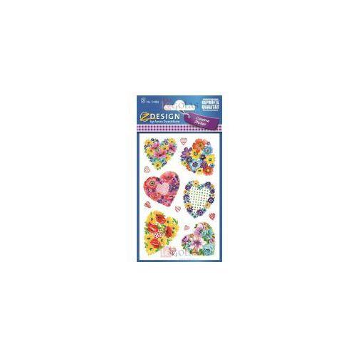 Zdesign Naklejki z kwiatami - serca (4004182544860)
