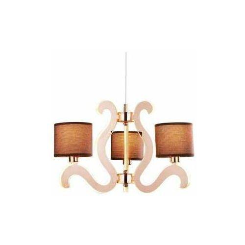 Lampa wisząca zwis żyrandol Candellux Ambrosia 1 3x40W E14 + 18,4W LED chrom 33-33895, kolor Biały