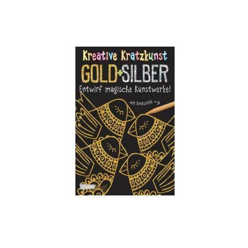 Kreative Kratzkunst: Gold und Silber: Set mit 10 Kratzbildern, Anleitungsbuch und Holzstift