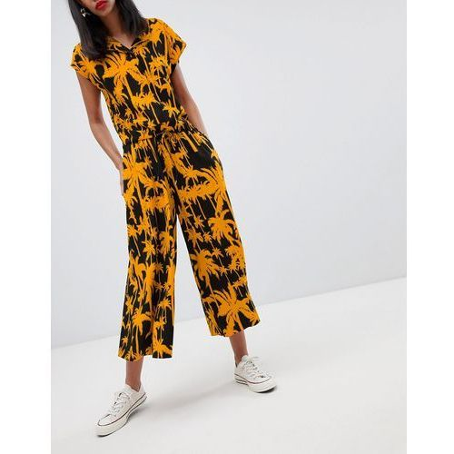 wide leg trousers with palm print - multi, Weekday